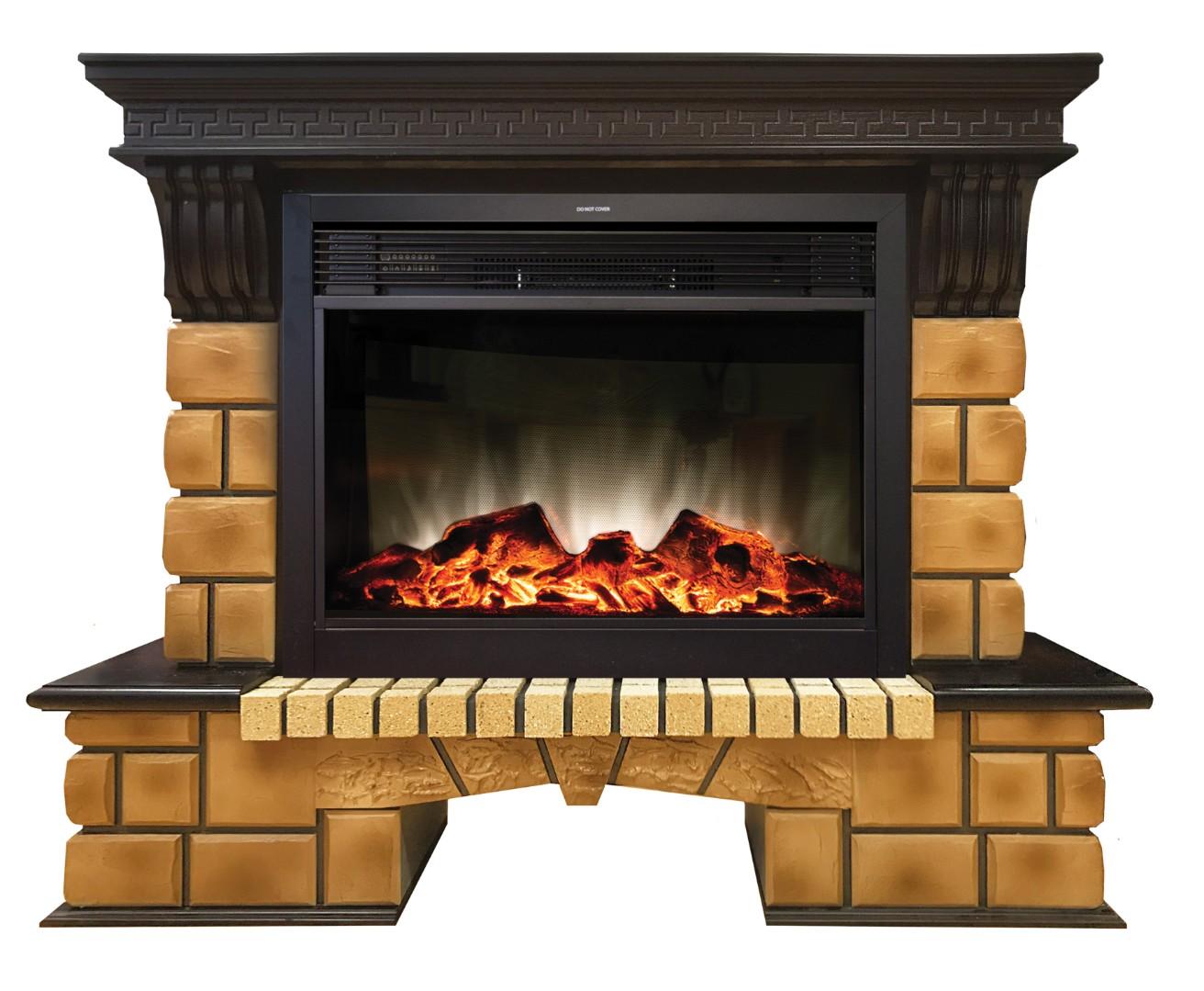 Каминокомплект Real Flame Stone Brick 26 AO с Moonblaze Lux BL S (в наличии и под заказ)